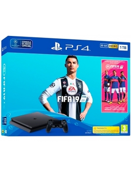 Sony PS4 PlayStation 4 Slim (Chasis F) 1TB + FIFA 19