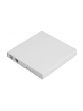 Grabadora Externa CD/DVD Slim Portable USB 2,0 Color Blanco