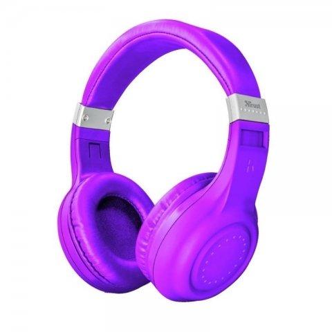 Auriculares Trust Neon Purple Bluetooth
