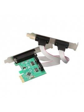 Tarjeta PCI-E 2 Serie 1 Puerto Paralelo