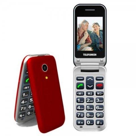 Telefono Movil Telefunken TM 210 IZY Color Rojo