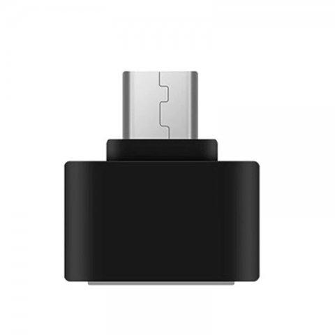 Adaptador Mini Otg Micro Usb Color Negro