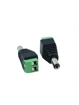 Conector Alimentacion Macho 12v Video Vigilancia Cctv 2,1mm x 5,5mm