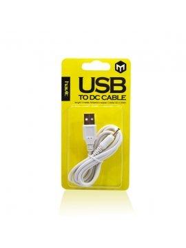 Cable Alimentacion USB Cargador Tablet 2,5mm (85Cm)