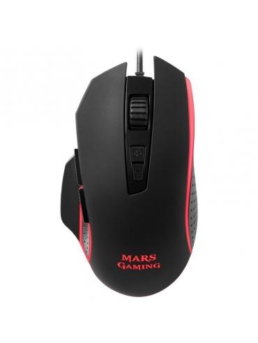 Raton Mars Gaming MM018 4800DPI Iluminacion RGB 8 Botones