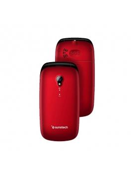 Telefono Movil Sunstech CELT17 Rojo