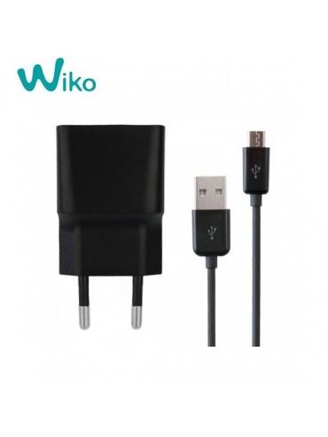 Cargador Original Wiko TN-050100E4A 5V 1A + Cable Micro Usb Negro