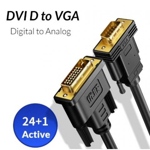 Cable DVI-D 24+1 a Vga 1M Activo