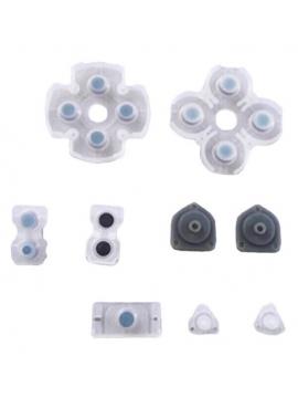 Gomas Botones Mando PS4 DualShock 4 kit Almohadillas Contacto Silicona Repuesto