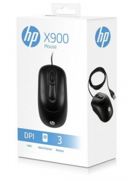 Raton Optico HP X900 1000DPI Negro