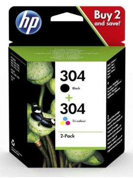 Tinta Original HP Pack 304 Color y Negro
