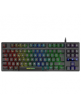 Teclado Mini Mars Gaming MKTKLES RED RGB