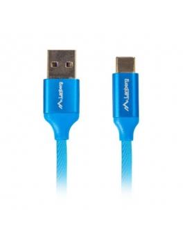 Cable USB Type C Azul Alta Calidad Soporta carga rapida 3,0 0,5m