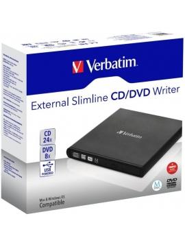 Regrabadora CD/DVD Doble Capa Slimline VERBATIM 53504 Black