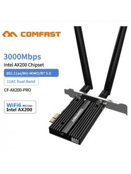 Wifi PCI-E Comfast Dual-Band 3000 2.4Ghz/5Ghz BTS 5,0