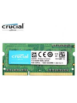 Memoria SODIMM 4Gb DDR3L Crucial 1600