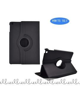Funda Tablet Huawei T5 Negra 306 Grados de Cuero PU