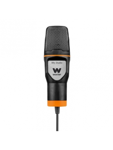 Microfono Woxter Mic Studio Black  50hz-16khz Filtro Pop Killer Trípode Ajustable