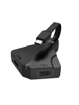 Adaptador USB-C a HDMI y VGA MTK TG7194