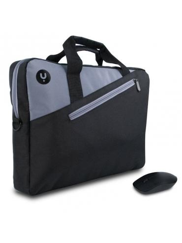 """Bolsa Portatil Maletín + Raton Monray Master Kit Black 15.6""""/39.6cm"""