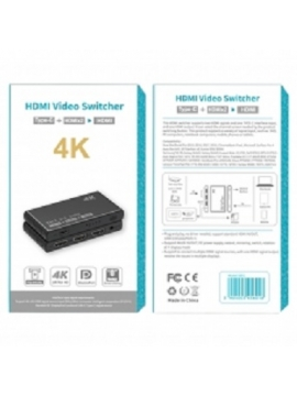 Adaptador Video Switcher USB-C 2 HDMI In 1 HDMI 4k Out