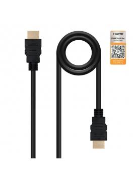 Cable HDMI v2,0 1,5m Calidad Premium HEC 4K@60HZ 18GBPS Nano Cable