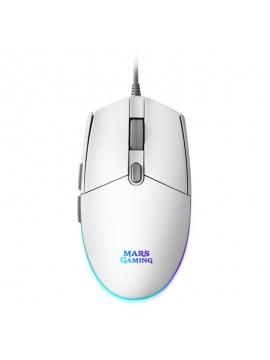 Raton Mars Gaming MMGW RGB Blanco