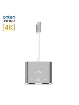 Adaptador USB-C a 2 HDMI ONTEN OTN-9175B
