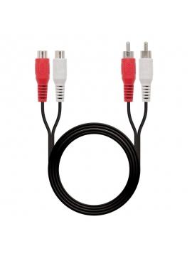 Cable Estéreo Nanocable 10.24.0710/ 2x RCA Macho - 2x RCA Hembra/ 10m