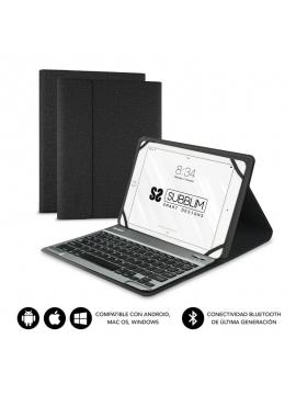 """Funda con Teclado Subblim Keytab Pro Bluetooth para Tablets de 10.1""""/ Negra"""