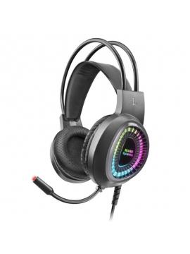 Auriculares Gaming con Micrófono Mars Gaming MH220/ Jack 3.5/ USB 2.0/ Negros