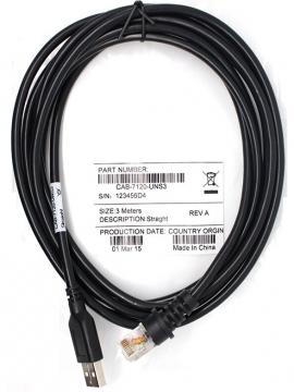 Cable Usb Lector de Codigos de Barras Honeywell Metrologic 3Metros CAB-7120-UNS3
