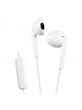 Auriculares Intrauditivos JVC HA-F17M Blanco con Micrófono