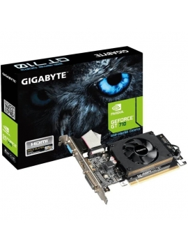 Tarjeta Gráfica Gigabyte GeForce GT 710/ 2GB DDR3/ Perfil Bajo