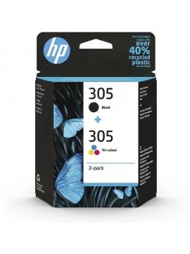 Tinta Original HP Pack 305 Color y Negro