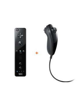 Pack Remote + Nunchuk - Negro- compatible motion plus