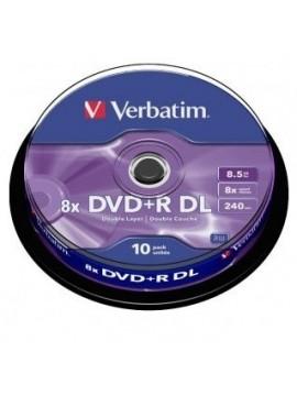 DVD+R DL Verbatim Doble Capa 10U.