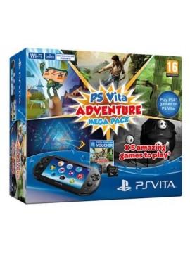 Consola Sony PSVITA PCH-2016 WIFI ADVEENTURE MEGAPACK + 8Gb