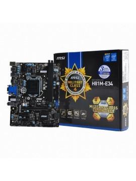 Placa Base MSI H81M-E34