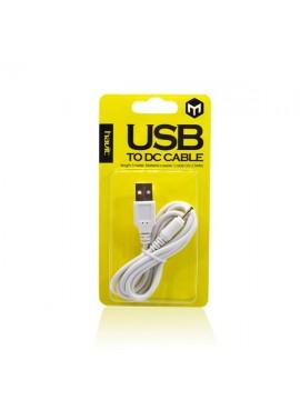 Cable Alimentación USB a Conector 2,5mm (85Cm)