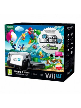 Wii U Premium Pack 32 GB + New Super Mario + New Super Luigi