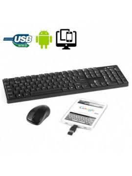 Teclado Y Raton NGS Grove Kit Complatible con Oredenadores Tablet y Smartphone