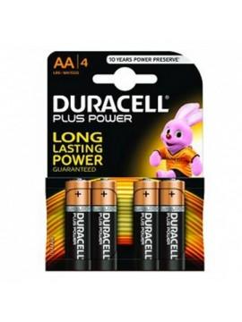 Pila Alcalina Duracell LR6 AA MN1500 Plus Power