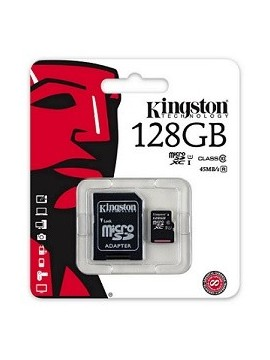 Tarjeta MicroSd XC Kingston 128GB CLASE 10
