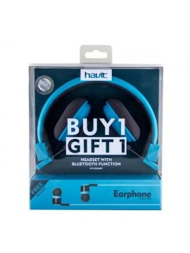 Auricular havit Inhalambrico Bluetooth + Auricular HV-E25P Regalo